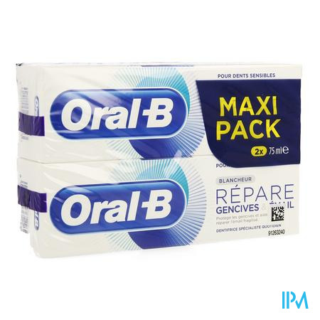 Oral-b Tp Repair  Gentlewhite 2x75ml Promo -1€