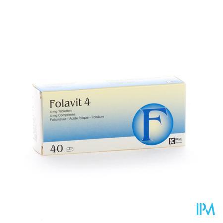 Folavit 4mg 40 tabletten