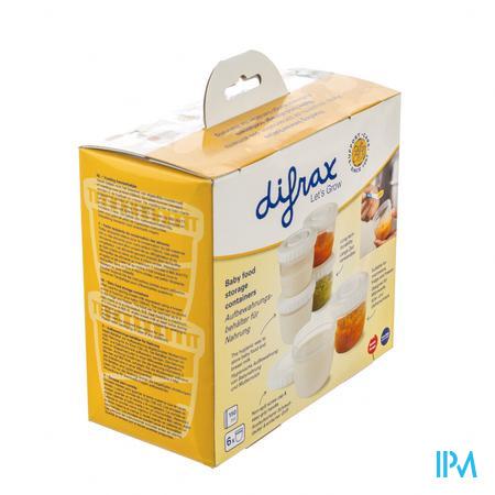 Difrax Btob Nourriture Boites Conserver 6 pièces