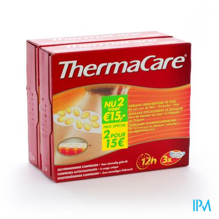 Thermacare Self Heating Compresses Neck/Schoulder/Wrist 6 pièces