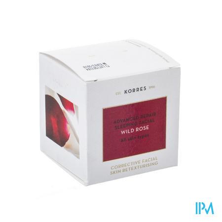 Afbeelding Korres Wild Rose Intens Herstellende Nachtcrème voor Alle Huidtypes 40 ml.