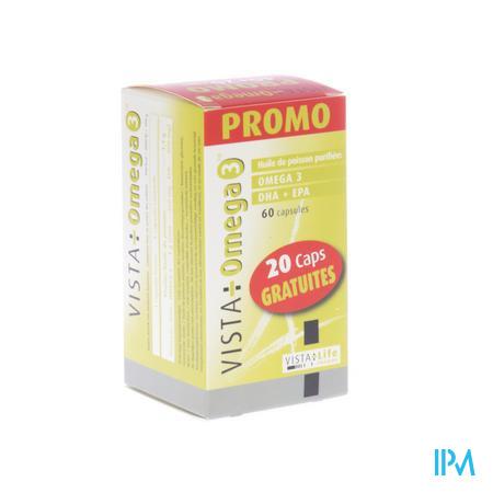 Vista Omega 3 Promo 40+20 Softgels Gratuites