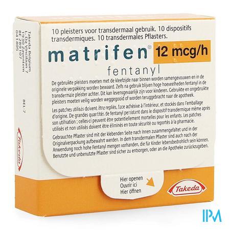 Matrifen 12 Ug/h Pleist Transderm 10