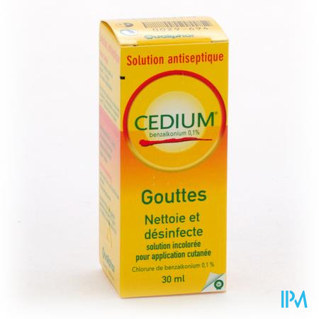 Cedium Benzalkonium Solution 30 ml