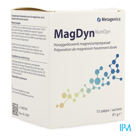 Magdyn Poeder Zakje 15 3858 Metagenics