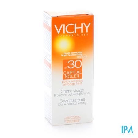 Afbeelding Vichy Ideal Soleil Zonnecrème voor Gelaat met SPF 30 50 ml.