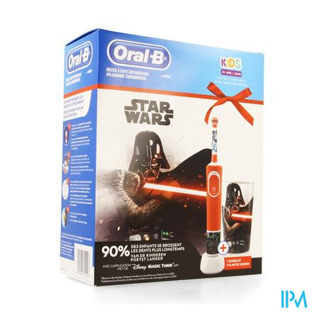 Oral B Kids D100 Star Wars + Eb10 + Beker Gratis