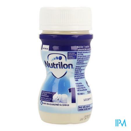 Nutrilon 1 mini fles vloeibaar 70ml volledige zuigelingenvoeding