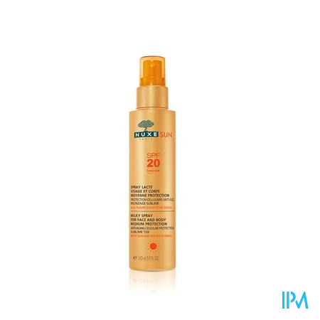 Nuxe Sun Melkspray Gelaat en Lichaam SPF 20 spray 150 ml