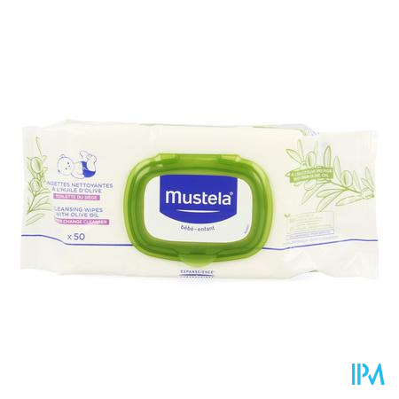Mustela Bb Reinigingsdoekjes Luierwis.olijfolie 50