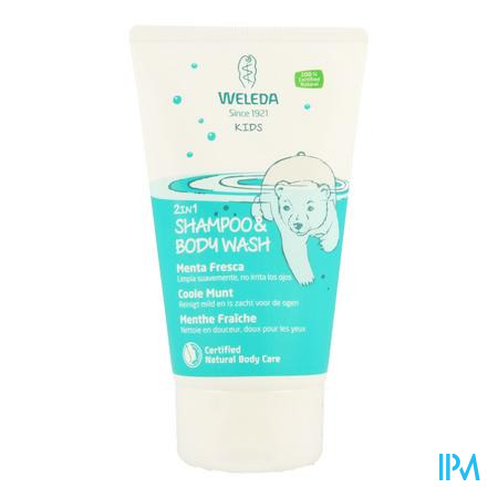 Weleda Kids Sh & Bodywash 2in1 Frisse Munt 150ml