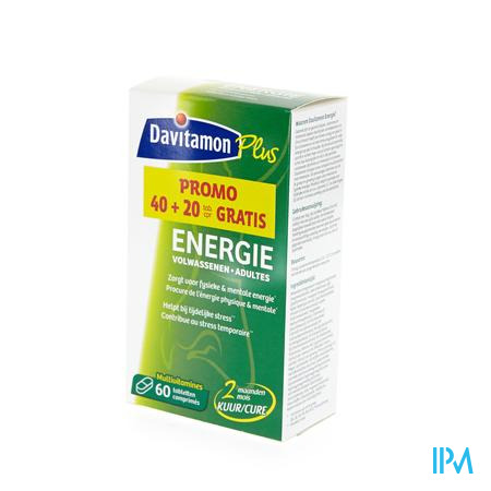 Davitamon Energy Adult DUOPROMO 40 + 20 Tabletten GRATIS +  -10%