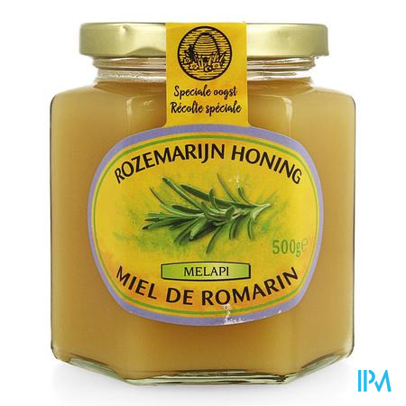 Melapi Honing Rozemarijn Zacht 500 gr 5532