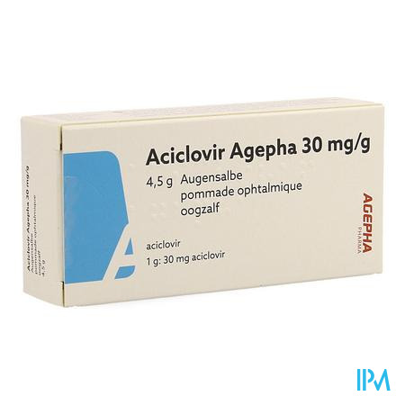 Aciclovir Agepha 30mg/g Oogzalf Tube 4,5g