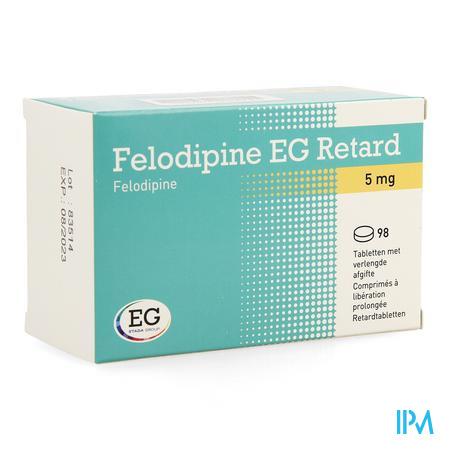 Felodipine Eg Retard 5mg Comp Liber Prol 98x 5mg