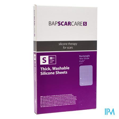 Bap Scar Care S Transparant Litteken Siliconenverband 10x15cm 60s1015 2 stuks