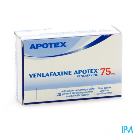 Venlafaxine Apotex 75mg Caps Verlengde Afgifte 28