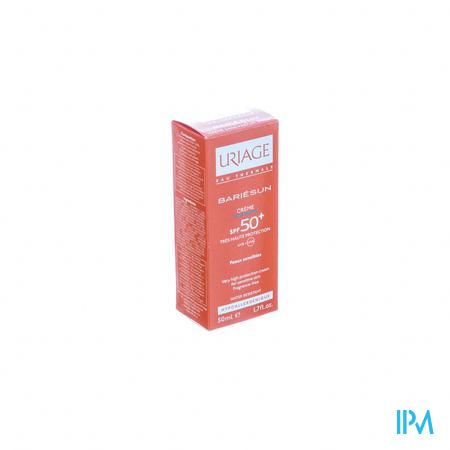 Afbeelding Uriage Bariésun Zonnecrème SPF 50+ zonder Parfum voor Gelaat voor Normale Huid Tube 50 ml.