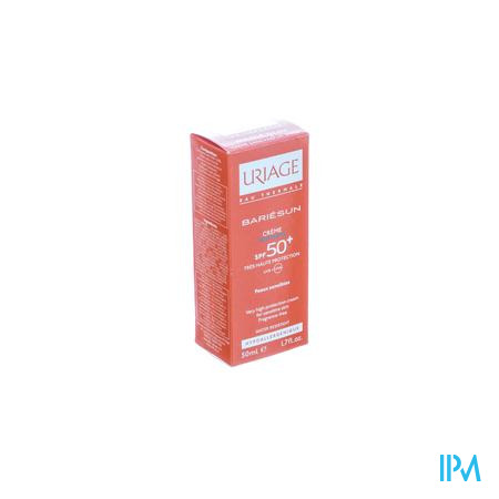 Uriage Bariesun IP50+ Crème Zonder Parfum Gevoelige Huid 50 ml