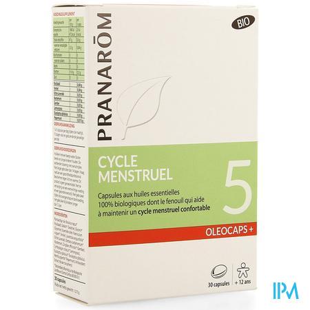 Oleocaps+ Bio 5 Menstruatie Caps 30