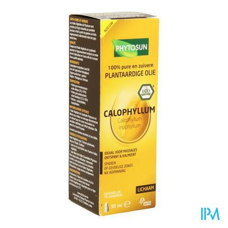 Afbeelding Phytosun Calophyllum Plantaardige Olie voor Spieren of Gevoelige Zones na Inspanning Pompje 50 ml.