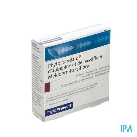 Phytostandard Meidoorn - Passiflora 30 tabletten