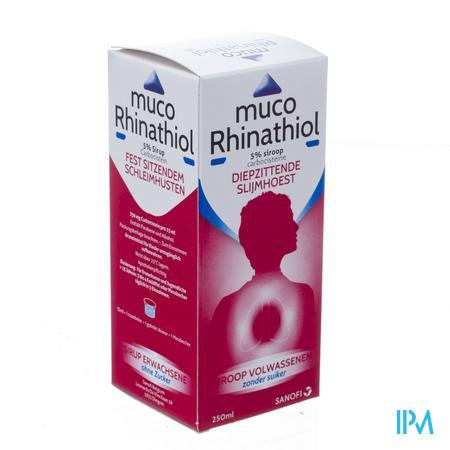 Muco Rhinathiol 5% Siroop Ad zonder suiker 250 ml