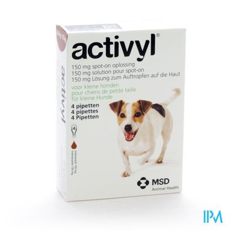 Activyl Spot-on Opl. Kleine Honden Pipet 4x150mg