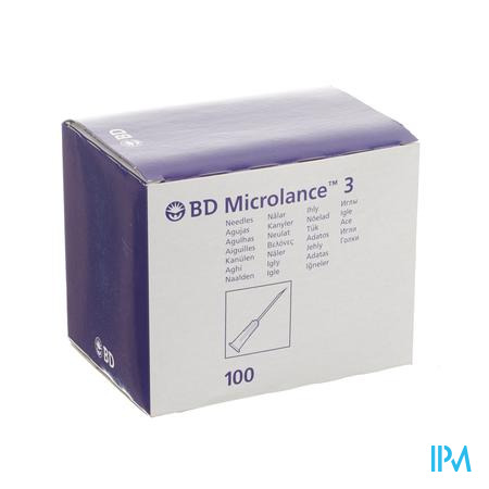 Bd Microlance 3 Nld 30g 1/2 Rb 0,3x13mm Geel 100