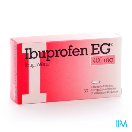 Farmawebshop - IBUPROFEN EG 400mg 30 tabletten