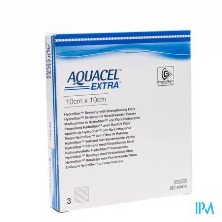 Aquacel Extra Steriel 10x10cm 420815 3 stuks