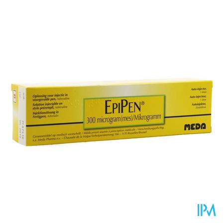 Epipen 0,30mg Patroon 0,3ml Sol Inj 1mg/ml