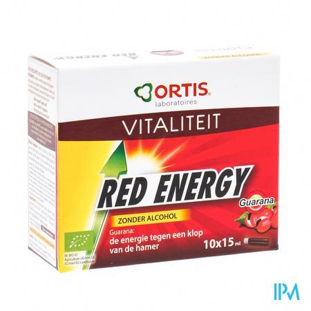Ortis Red Energy Bio Zonder Alcohol 10 x 15 ml