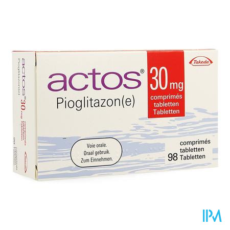 Actos 30mg Comp 98 X 30mg