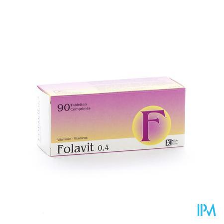 Folavit 0.4mg Foliumzuur 90 tabletten