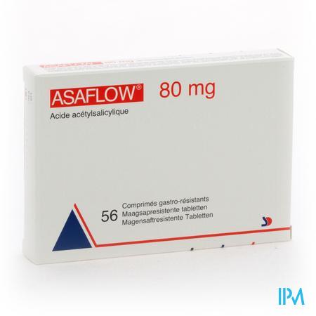 Afbeelding Asaflow 80mg 56 tabletten.