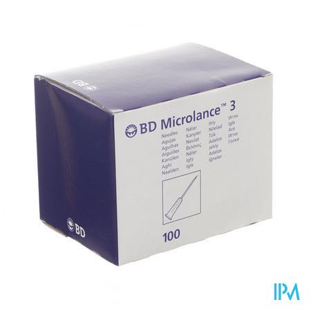 BD Microlance 3 Aiguilles 23G 1/4 RB 0,6x30 Mm Bleu 100 pièces