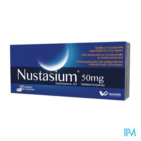 Afbeelding Nustasium 20 tabletten.