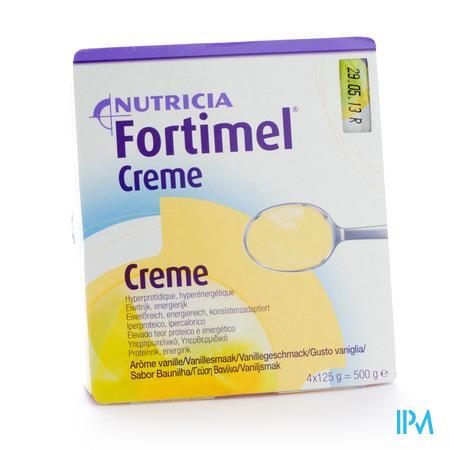 Afbeelding Fortimel Creme Vanille 125g 4 stuks.