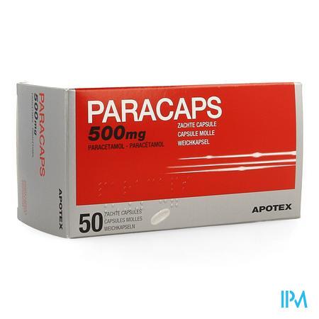 Paracaps 500mg Zachte Caps 50 X 500mg