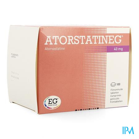 Atorstatineg 40 mg Filmomhulde Tabletten 100