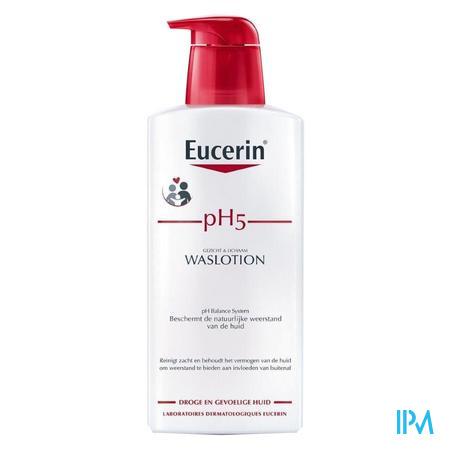 Afbeelding Eucerin PH5 Waslotion met pomp 400ml.