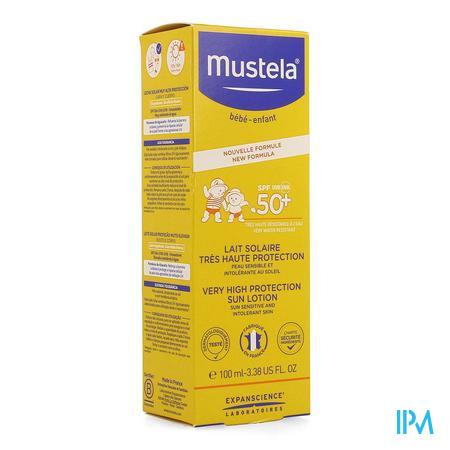 Mustela Zon Melk Heel Hoge Bescherm. Ip50+ 100ml