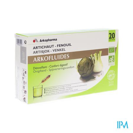 Arkofluide Artichaut Fenouil 20 ampoules