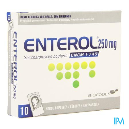 Enterol 250 mg Capsule Harde Dur S/blister 10x250 mg