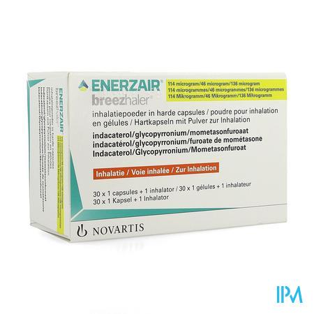 Enerzair Breezhaler 114/46/136mcg Caps 30x1+1inhal