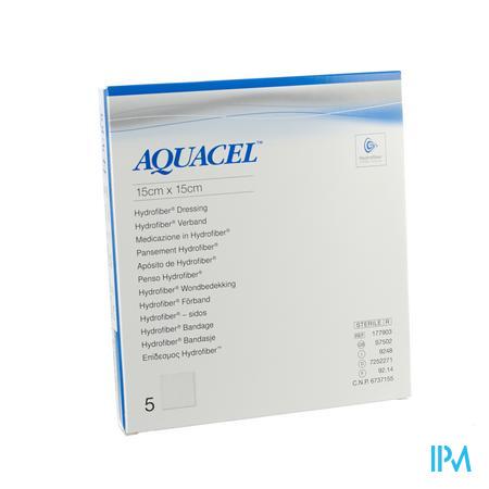 Aquacel Ag Verb Hydrofiber Ster 15x15cm 5 403710