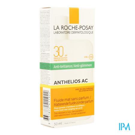 Afbeelding La Roche-Posay Anthelios AC Matterende Zonnefluide SPF 30 met Anti-Glimtextuur voor Vette Huid met Neiging tot Acne 50 ml.
