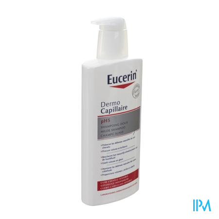 Afbeelding Eucerin Dermocapillair Milde Shampoo Ph5 400ml.