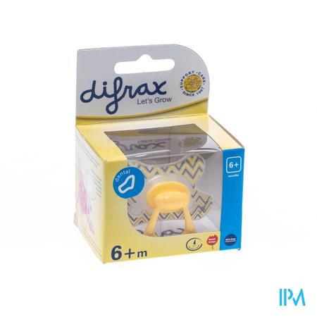 Difrax Sucette Silicone Dental Avec Anneau + 6m 800  -  Difrax